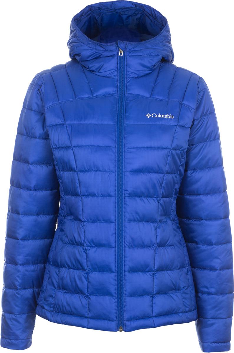 Куртка женская Columbia Pacific Post Hooded Jacket W, цвет: синий. 1620441-587. Размер L (48)1620441-587Женская утепленная куртка Columbia для повседневной носки в холодную погоду. Водоотталкивающая пропитка защищает изделие от грязи, легкого дождя и снега. Утеплитель - искусственный пух обеспечивает максимальную легкость изделия. Капюшон, внутренние эластичные манжеты, два боковых кармана на молнии, приталенный силуэт обеспечивают максимальное удобство и комфорт при плохих погодных условиях.
