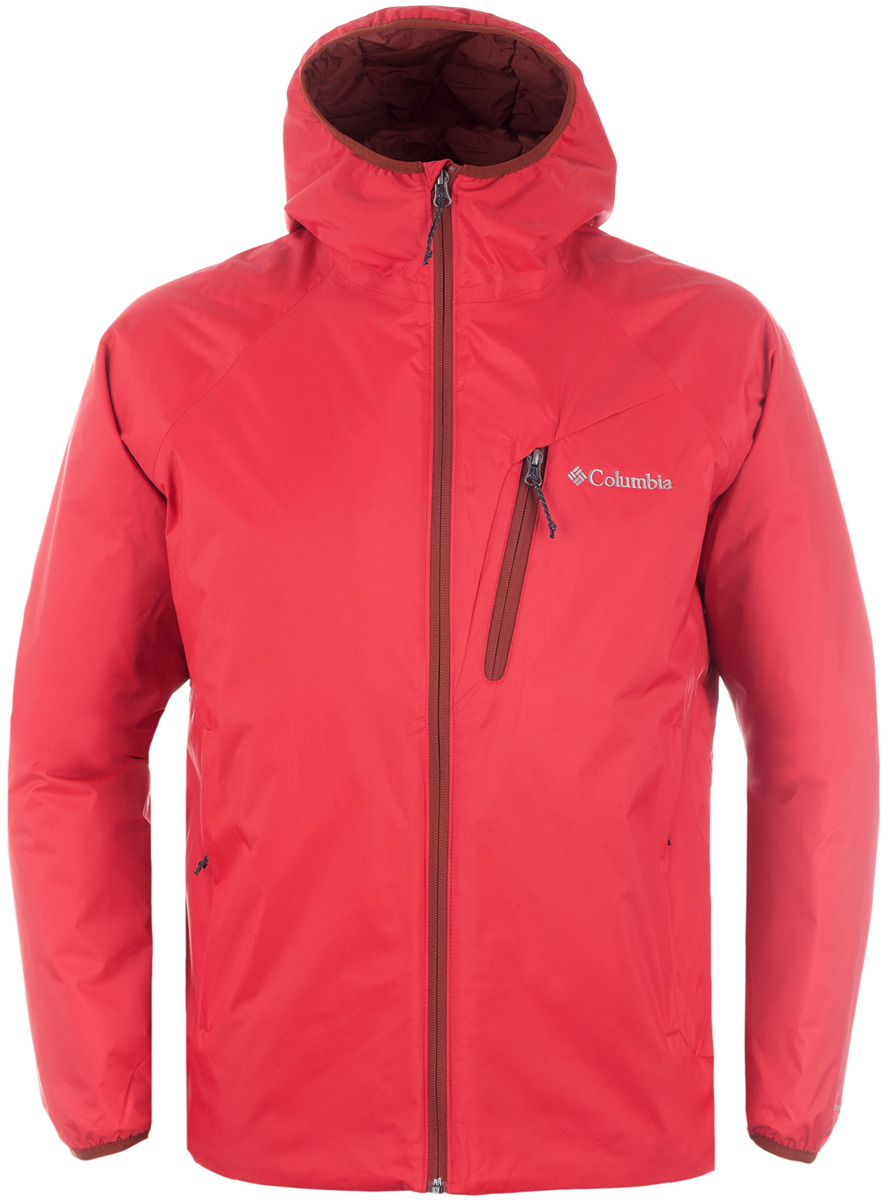 Куртка мужская Columbia Redrock Falls Jacket M, цвет: красный. 1621721-614. Размер XXL (56/58)1621721-614Мужская утепленная куртка для активного отдыха и горного туризма. Верхняя ткань изделия содержит мембрану Omni-Tech. Наличие мембраны в изделии дает дополнительное преимущество - защита от ветра. Утеплитель и подкладка Omni-Heat обеспечивают уникальную температурную регуляцию при максимальной легкости изделия. Швы частично проклеены, капюшон, регулируемый низ изделия, карманы на молнии обеспечивают дополнительный комфорт. Рекомендуемый температурный режим для данной модели до -5° С , исходя из расчета на среднюю физическую активность - ходьбу 4 км/ч.