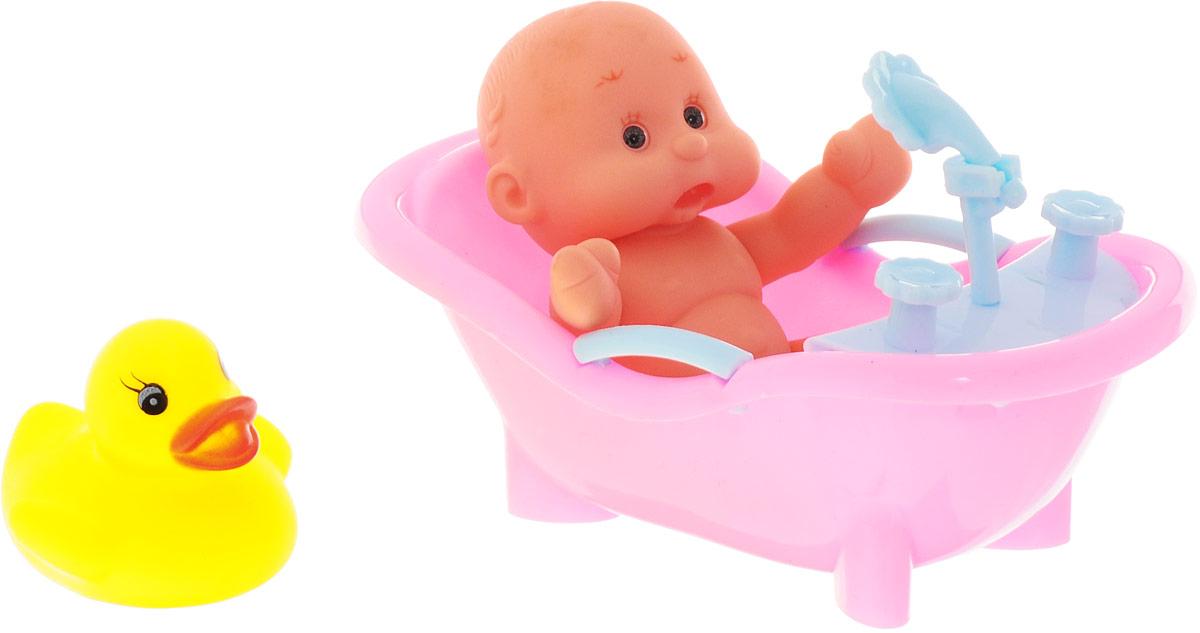 ABtoys Набор игрушек для ванной Пупс Карапузики цвет ванны розовый 3 шт игрушки для ванны brasco игрушка для ванной крабик с друзьями