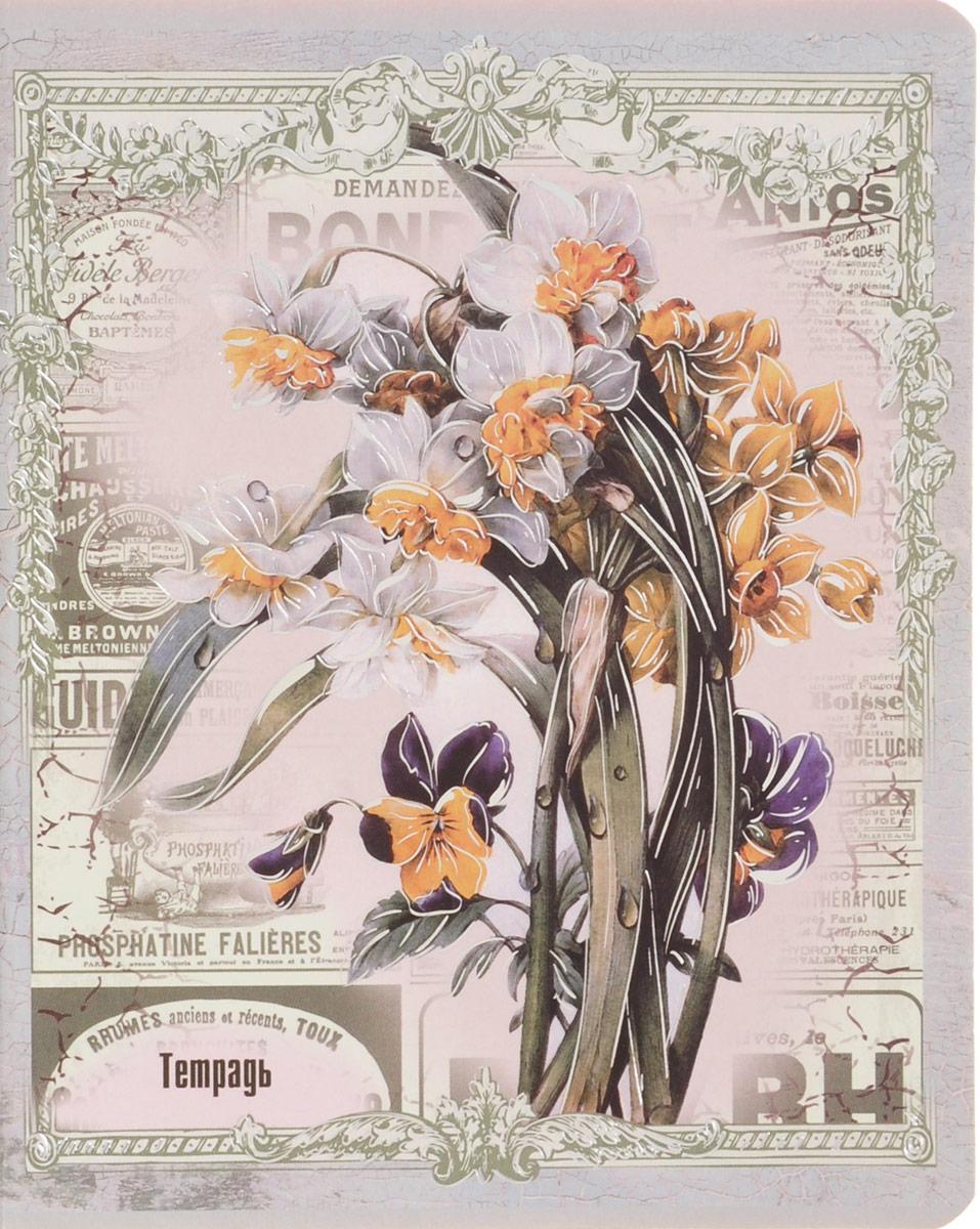 Феникс+ Тетрадь Красивые цветы Нарциссы 48 листов в клетку29569_нарциссыТетрадь Феникс+ Красивые цветы. Нарциссы имеет обложку формата А5+, выполненную из мелованного картона.Благодаря скругленным краям исключаются заломы уголков.Внутренний блок тетради, соединенный двумя металлическими скрепками, состоит из 48 листов качественной белой бумаги. Стандартная линовка в клетку голубого цвета дополнена полями.