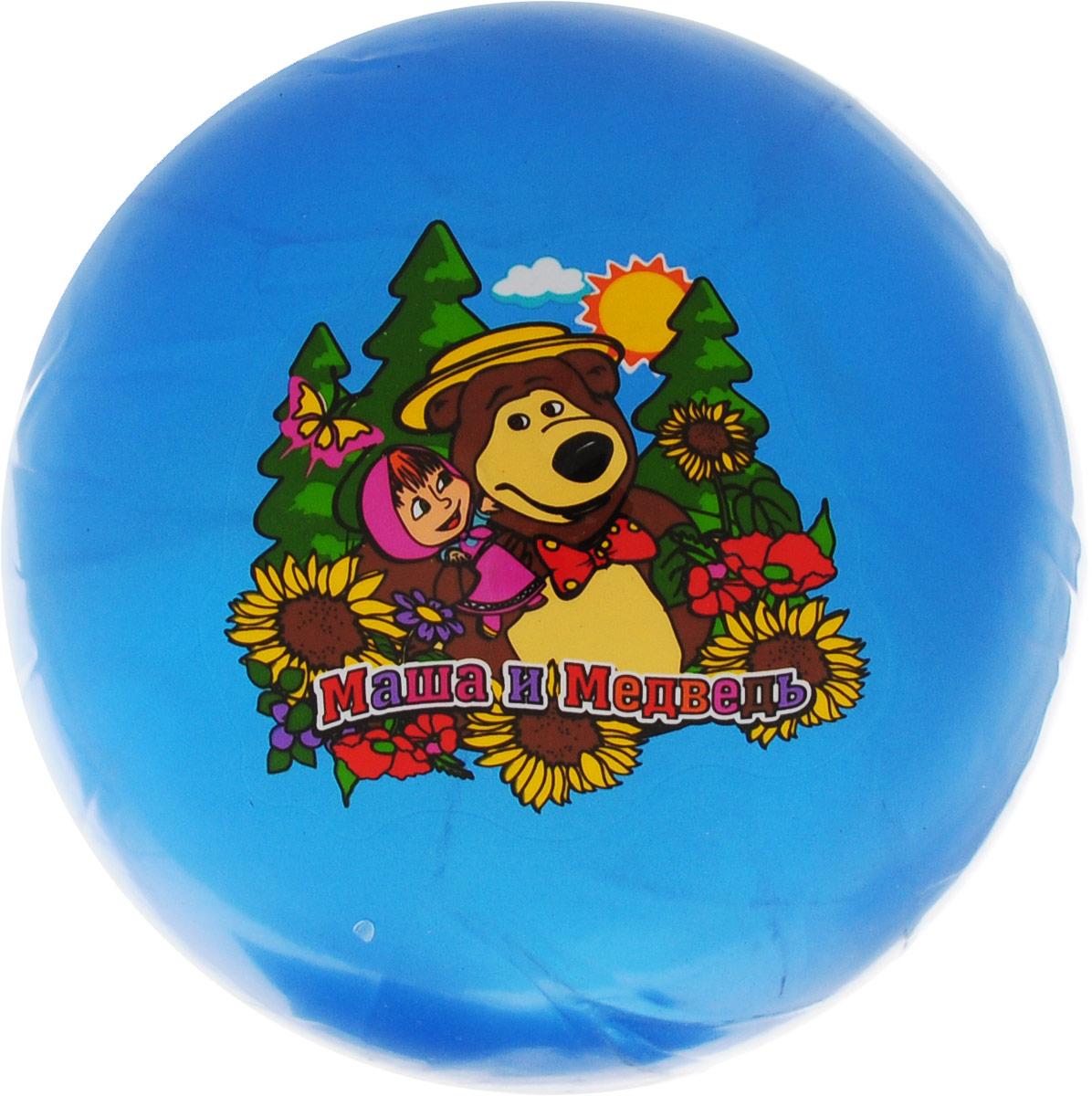 Играем вместе Мяч Маша и Медведь цвет синий 23 см