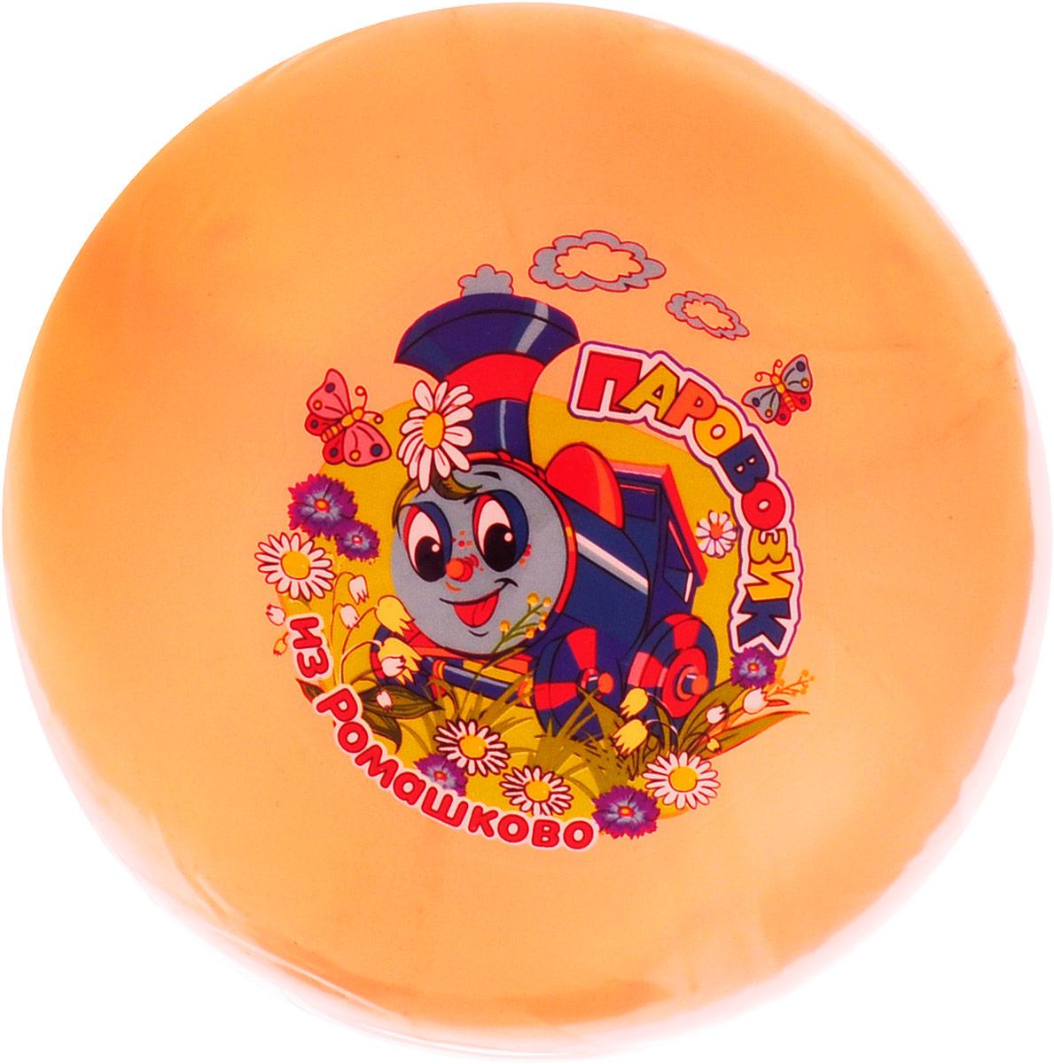 Играем вместе Мяч Паровозик из Ромашково цвет оранжевый 23 см