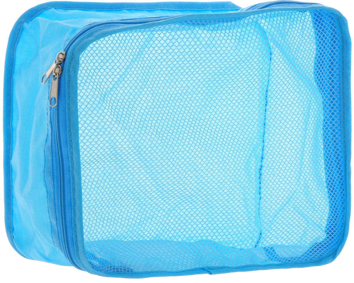 Colibri Косметичка, цвет: голубой, 26 х 20 х 10 смSC262010 (BLUE)Косметичка Colibri выполнена из 100% полиэстера и дополнена вставкой из сетки. Изделие закрывается на молнию. Косметичка предназначена для транспортировки косметических средств и принадлежностей. Компактная и удобная косметичка не займет много места в чемодане.