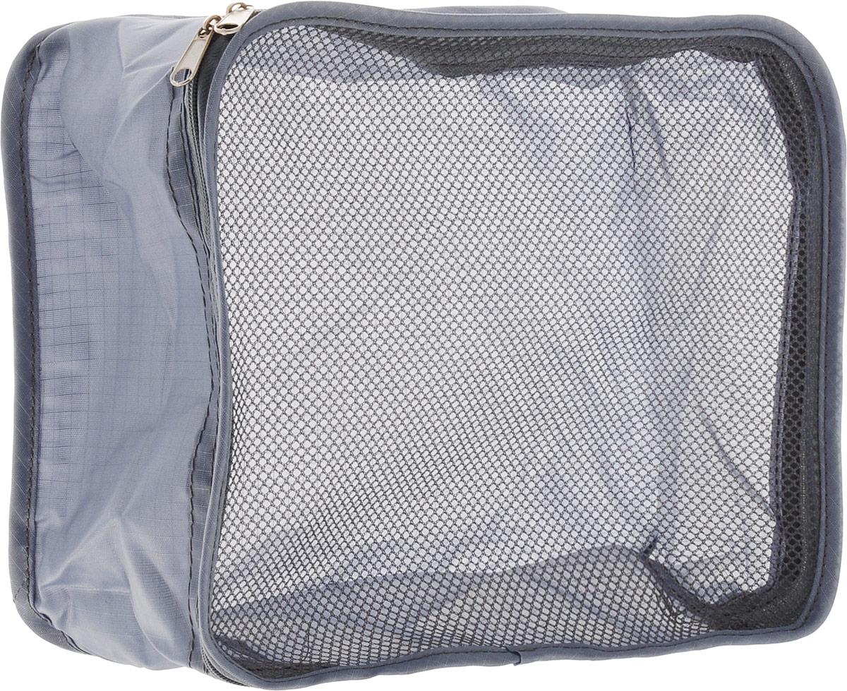 Colibri Косметичка, цвет: серый, 26 х 20 х 10 смSC262010 (GREY)Косметичка Colibri выполнена из 100% полиэстера и дополнена вставкой из сетки. Изделие закрывается на молнию. Косметичка предназначена для транспортировки косметических средств и принадлежностей. Компактная и удобная косметичка не займет много места в чемодане.
