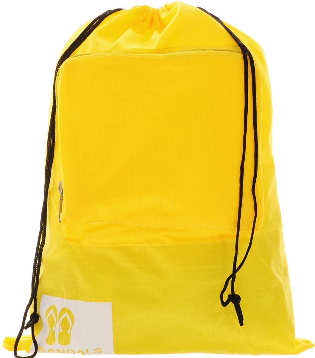 Colibri Чехол для обуви, цвет: желтый, 39 х 31 смG5024Чехол для обуви Colibri выполнен из 100% полиэстера. Изделие снабжено затягивающимся шнурком на кулиске. Спереди расположен небольшой накладной кармашек на молнии. Чехол предназначен для хранения и транспортировки обуви, благодаря небольшим размерам не займет много места у вас в чемодане. Кроме того, он легко и компактно складывается.Размер (в сложенном виде): 18 х 14 х 2 см.Размер (в разложенном виде): 39 х 31 см.