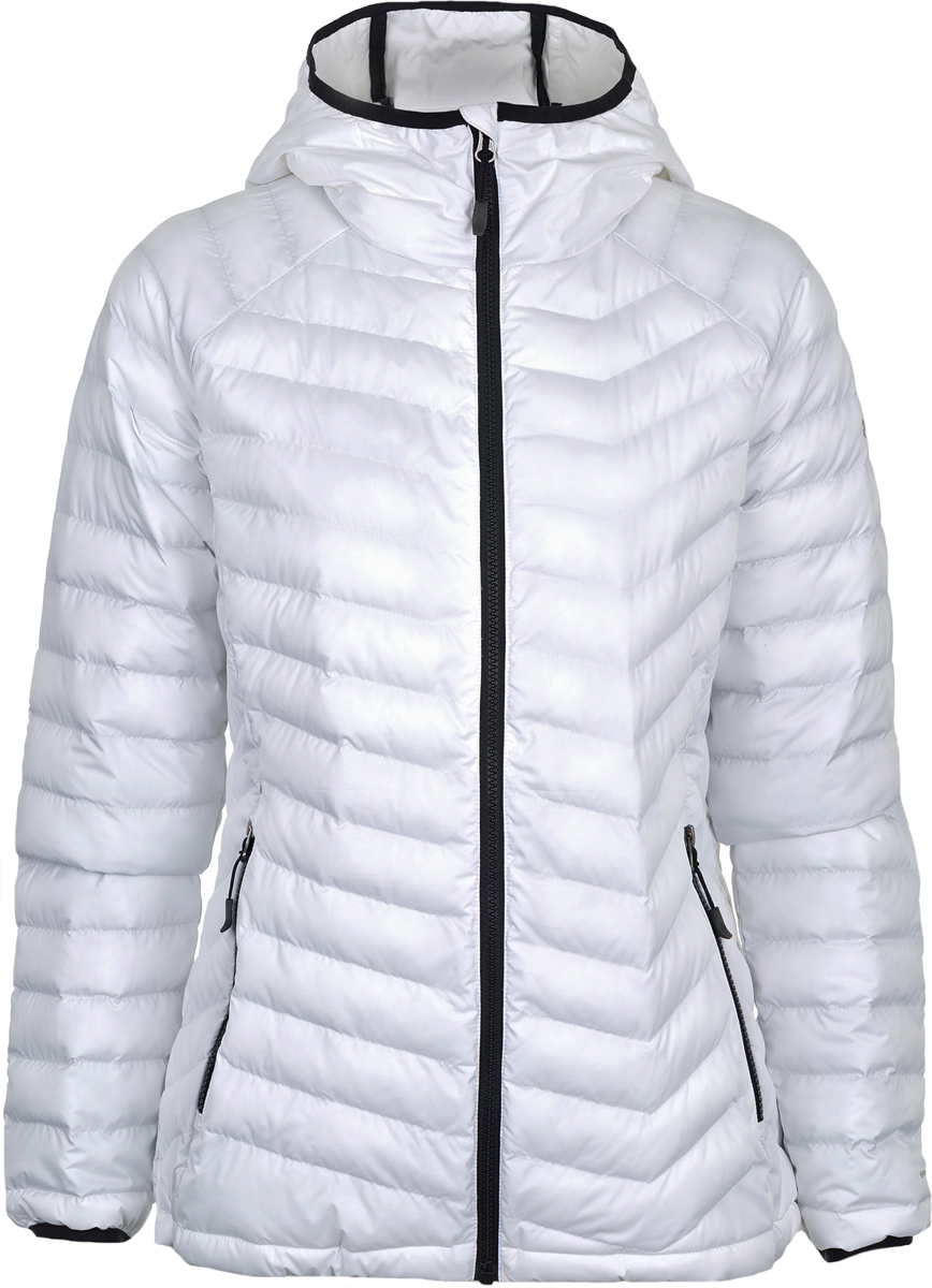 Куртка женская Columbia Powder Lite Hooded Jacket W, цвет: белый. 1699071-100. Размер S (44)1699071-100Утепленная женская куртка Columbia Powder Lite создана для походов и активного отдыха на природе. Куртка со стеганой прострочкой выполнена из полиэстера. Технология Omni-Heat сохраняет тепло за счет инновационных серебристых точек, расположенных с внутренней стороны изделия. Модель с несъемным капюшоном застегивается на пластиковую застежку-молнию. Специальный клапан защищает кожу подбородка от соприкосновения с молнией. Куртка дополнена двумя боковыми карманами на молниях.