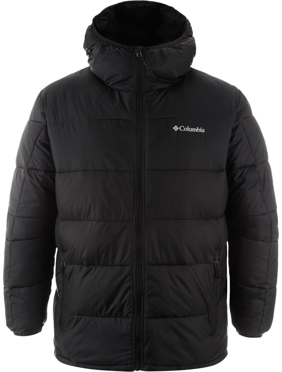 Куртка муж Columbia Munson Point Insulated Jacket M, цвет: черный. 1732851-010. Размер XL (52/54)1732851-010Мужская утепленная куртка для повседневной носки в холодную погоду. Водоотталкивающая пропитка защищает изделие от грязи, легкого дождя и снега. Утеплитель - искусственный пух обеспечивает максимальную легкость изделия. Капюшон, внутренние эластичные манжеты, два боковых кармана на молнии обеспечивают максимальное удобство и комфорт при плохих погодных условиях.