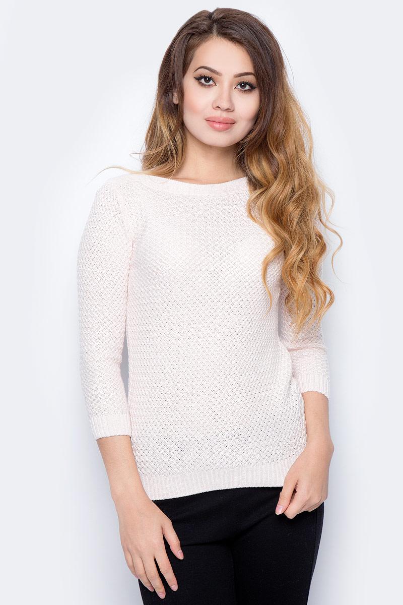 Фото Джемпер женский Sela, цвет: пастельно-розовый. JR-114/2025-7321. Размер XL (50)