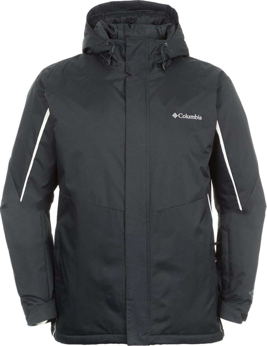Куртка мужская Columbia Kantor Summit Jacket Mens Ski, цвет: черный. 1736921-010. Размер S (44/46)1736921-010Теплая куртка изготовлена из качественного материала с утеплителем. Куртка застегивается на молнию. Модель дополнена капюшоном и врезными карманами на молниях.
