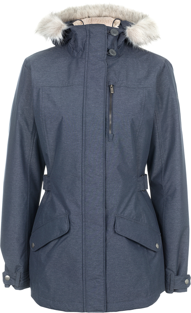 Куртка женская Columbia Penns Creek Jacket W, цвет: темно-синий. 1737061-419. Размер XS (42)1737061-419Женская стильная утепленная парка отлично подойдет для использования в городских условиях. Куртка застегивается на молнию и клапан с пуговицами. Модель дополнена капюшоном и практичными карманами, на талии имеется утяжка.
