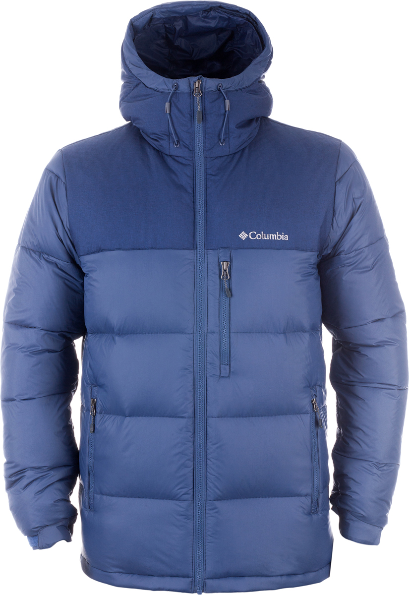 Пуховик мужской Columbia Sylvan Lake 630 Turbodown M Down Jacket, цвет: синий. 1737992-478. Размер M (46/48)1737992-478Мужская пуховая куртка (630 Turbodown) - отличный выбор для путешествий и города в холодную погоду. Модель застегивается на молнию и дополнена капюшоном со шнурком-утяжкой. спереди пуховик оформлен врезными карманами на молниях.