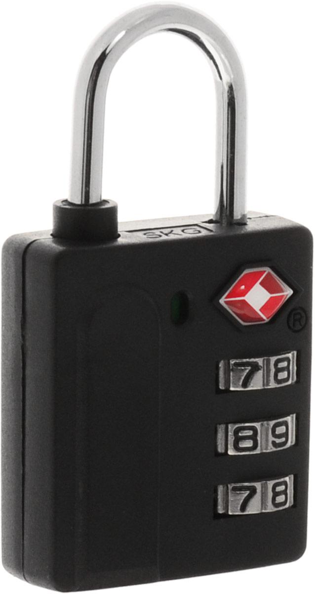 ColibriКодовый замок для багажа c функцией TSA, цвет:  черный Colibri
