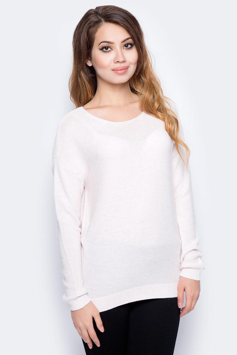 Джемпер женский Sela, цвет: пурпурно-серый меланж. JR-114/1250-7321. Размер XS (42) свитшот женский sela цвет серый меланж st 113 937 7351 размер xs 42
