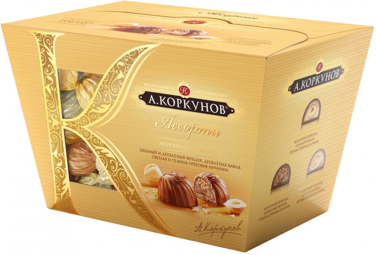 А.Коркунов Ассорти конфеты молочный шоколад, 137 г lindt lindor шоколадные конфеты ассорти 100 г
