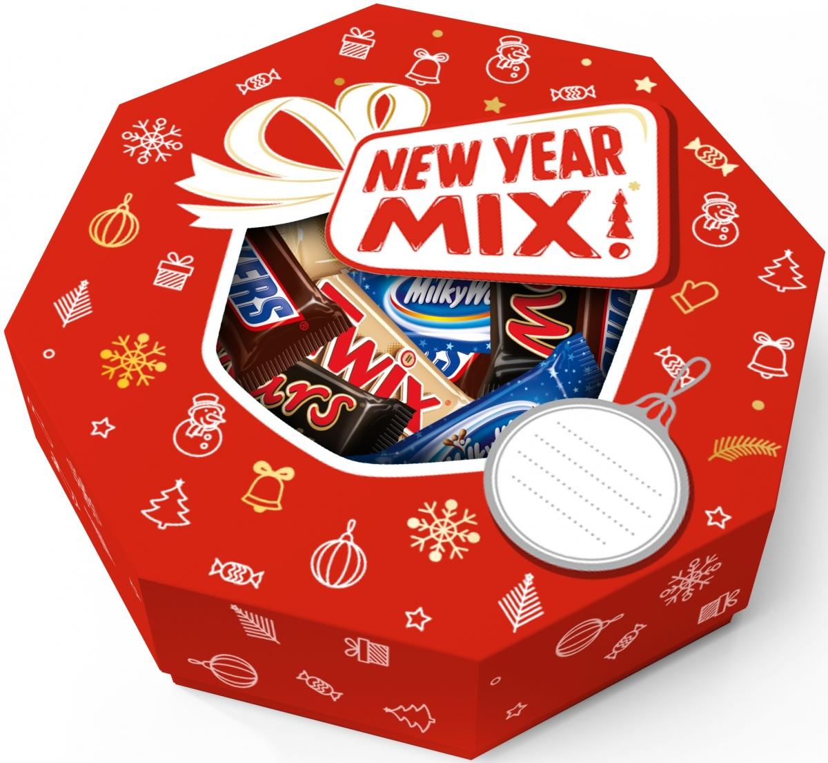 Minis Ассорти подарочный набор, 346 г4607065379919Новогодний набор New Year Mix - отличный подарок для родных, близких, детей и коллег! В наборе - только самые известные и любимые шоколадные батончики, конфеты и драже: Сникерс, Твикс, Баунти и, кончено же, M&Ms! Яркая упаковка дополняет этот разнообразный ассортимент и делает ваш подарок по-настоящему незабываемым!