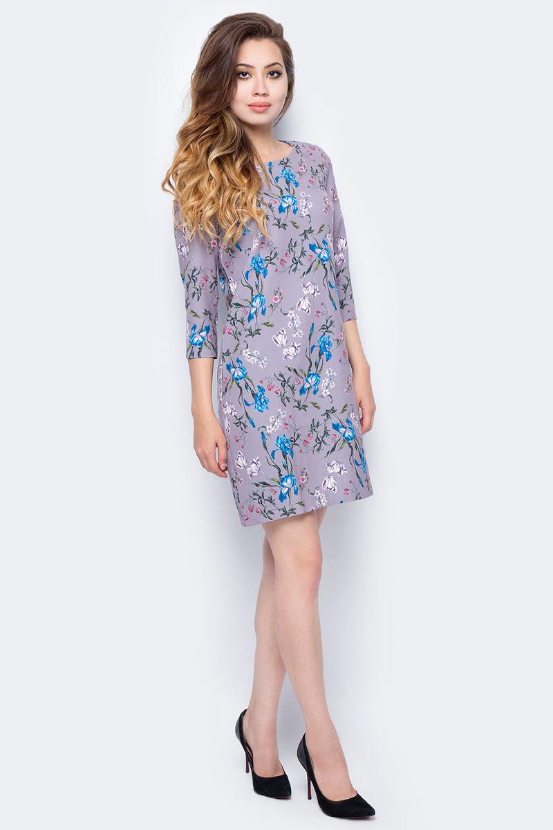 Платье Sela, цвет: серо-фиолетовый. D-117/1210-7341. Размер 50 sela se001ewopz57 sela