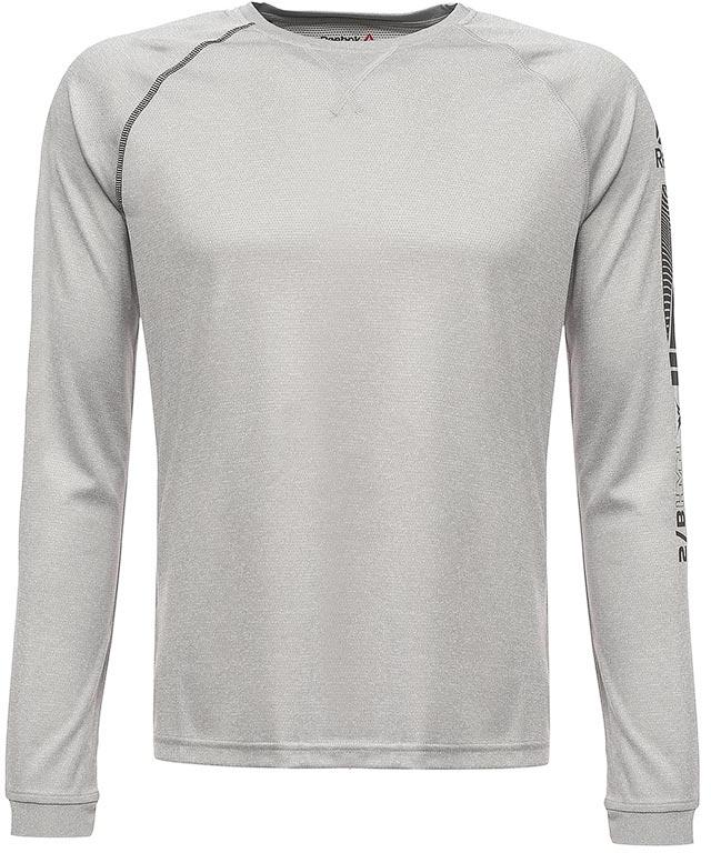 Термобелье кофта мужская Reebok Outdoor Thermal, цвет: серый. S96409. Размер XXL (60/62)S96409В этой удобной футболке с длинным рукавом от Reebok тренировки на улице будут приносить еще больше радости. Теплый материал с технологией отвода влаги подарит ощущение комфорта и сухости. Плоские швы предотвращают риск натирания, а эластичные манжеты обеспечат оптимальную посадку. Облегающий крой идеально подходит для тренировок и повторяет каждое движение.Идеально для занятий спортом в прохладную погоду. Технология Speedwick отводит излишки влаги с поверхности тела, оставляя ощущение сухости и комфорта.Плоские швы сводят к минимуму риск натирания.Модель выполнена из ткани двойного плетения для эластичности и тепла.