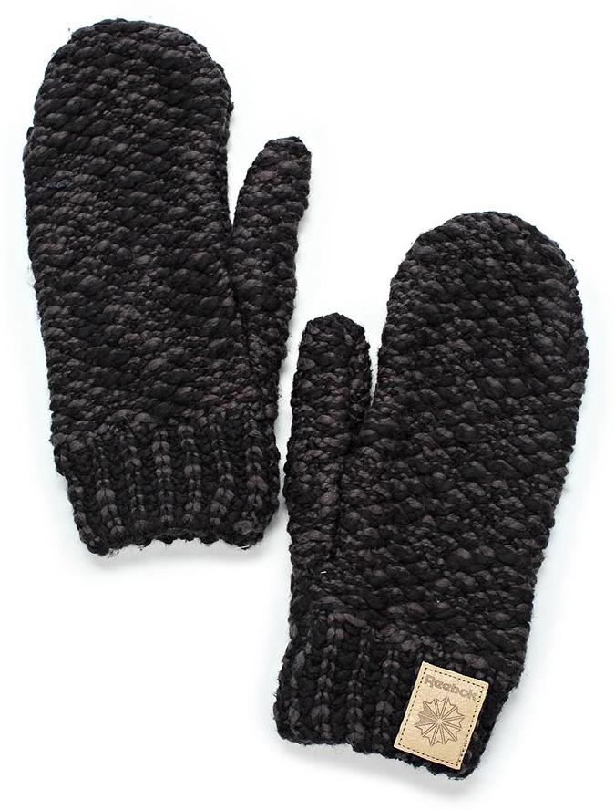 Варежки женские Reebok Cl Womens Gloves, цвет: черный. CE0759. Размер S (18)CE0759Эти стильные варежки от Reebok прекрасно завершат непринужденный образ. Кожаный классический логотип дополняет продуманный стиль. Идеально для создания стильного образа на каждый день и холодной погоды.