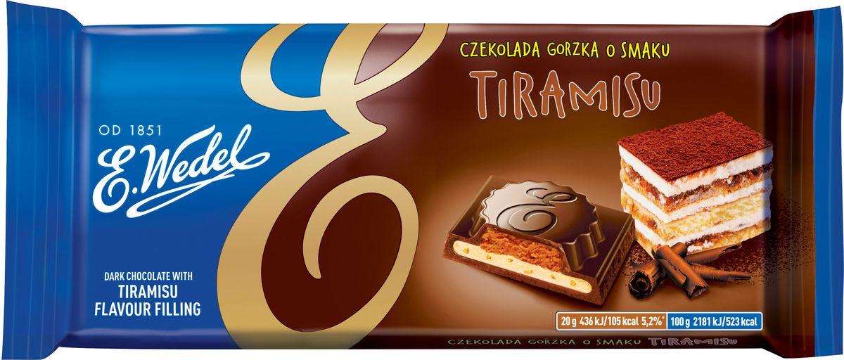 E.Wedel тирамису темный шоколад, 100 г протеин qnt протеин metapure zero carb вкус тирамису 2 кг