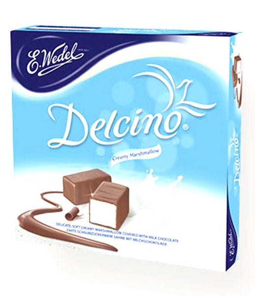 E.Wedel Delcino маршмеллоу в молочном шоколаде, 190 г7.22.22Оригинальное бельгийское лакомство - воздушный, как облачко, зефир маршмеллоу с нежным ванильным вкусом покрыт слоем молочного шоколада. Эти конфеты станут прекрасным угощением к чаю или кофе.