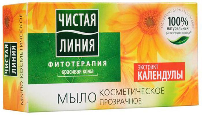 Чистая Линия Фитотерапия Твердое мыло Экстракт календулы 80 гр1106337701ПРИРОДНЫЕ КОМПОНЕНТЫ: 1 % натуральная растительная основа мыла Экстракт календулыДЕЙСТВИЕ:Обладает мягким антибактериальным действием, предотвращает ощущение сухости и стянутости