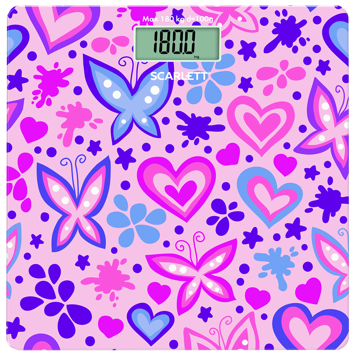 Scarlett SC-BS33E092, Butterfly And Heart весы напольные - Напольные весы