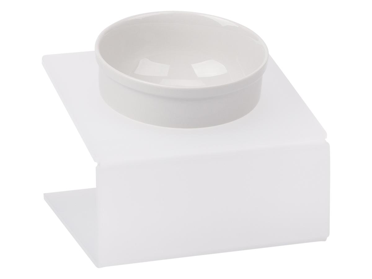 Миска для животныx  Artmiska , одинарная, на подставке, цвет: белый, 1 x 350 мл - Аксессуары для кормления