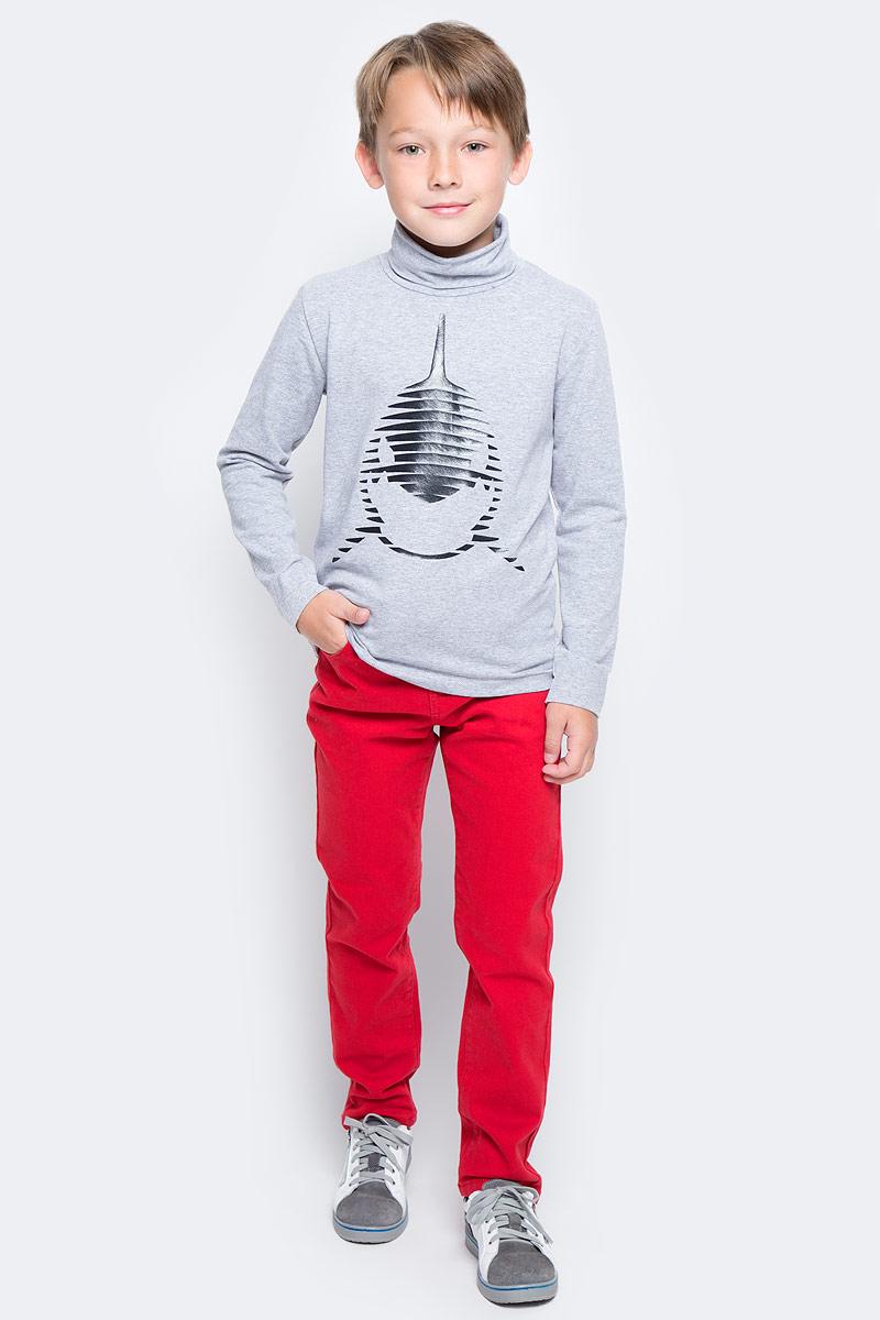 Брюки для мальчика PlayToday, цвет: красный. 371012. Размер 128371012Велюровые классические брюки PlayToday имеют пятитикарманный крой. Добавление в материал эластана позволяет изделию хорошо сесть по фигуре. Модель со шлевками, при необходимости можно использовать ремень.