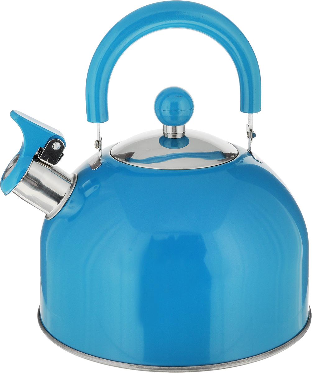 Чайник  Travola , со свистком, цвет: бирюзовый, 2,5 л - Посуда для приготовления