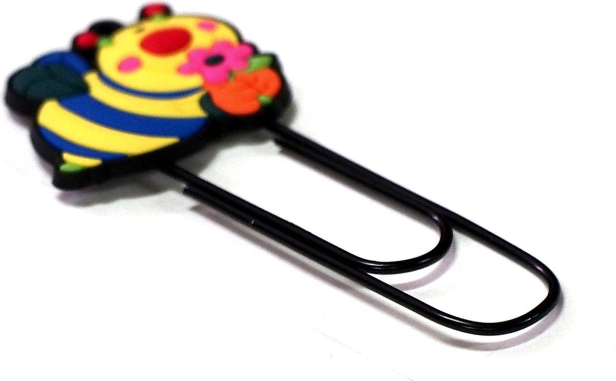 Карамба Закладка-скрепка Пчелка000204Забавные закладки, выполненные из мягкого пластика, на металлической основе в виде скрепки.