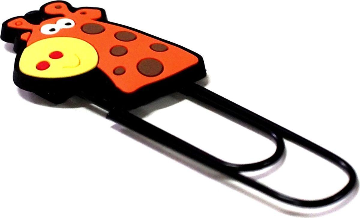 Карамба Закладка-скрепка Жираф000205Забавные закладки, выполненные из мягкого пластика, на металлической основе в виде скрепки.