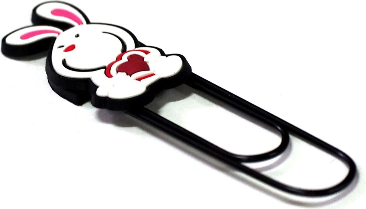 Карамба Закладка-скрепка Заяц000206Забавные закладки, выполненные из мягкого пластика, на металлической основе в виде скрепки.