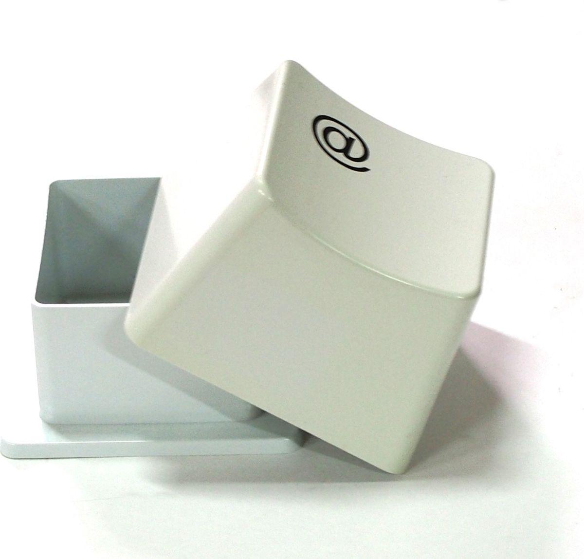 Карамба Подставка для скрепок Кнопка цвет белый -  Органайзеры, настольные наборы