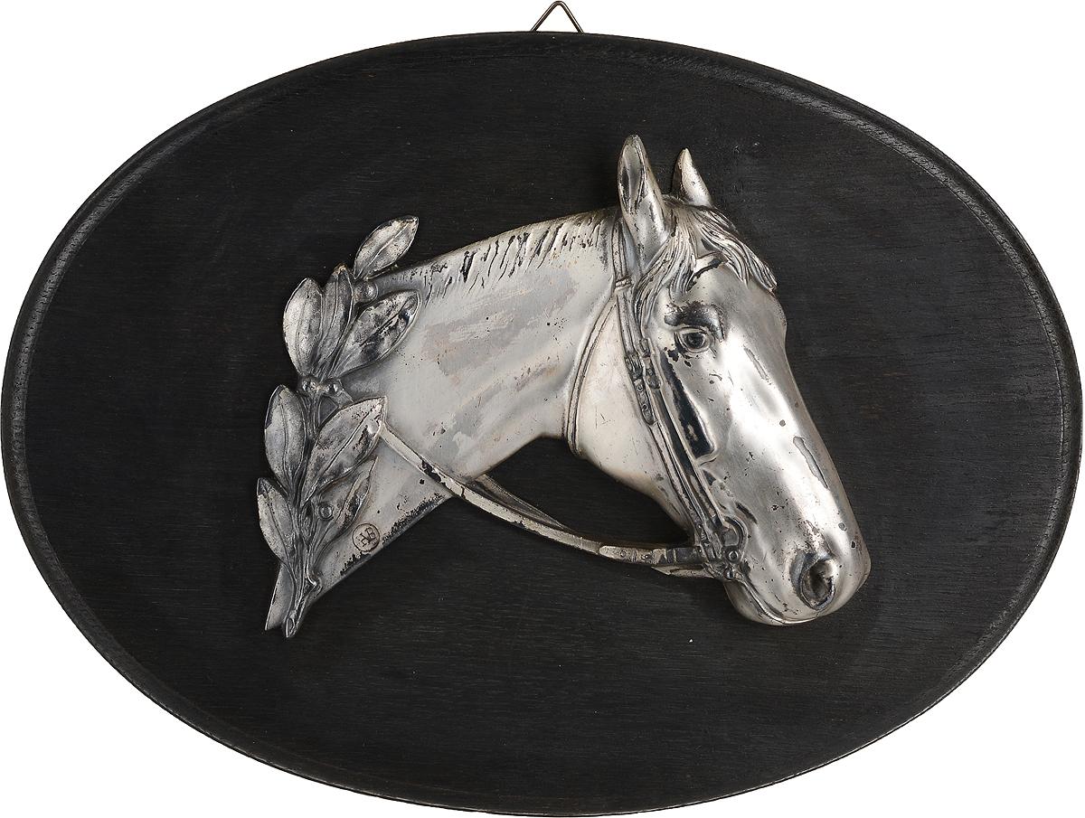 Настенное декоративное панно Голова лошади. Металл, серебрение, дерево. Западная Европа. Вторая половина ХХ века ложка сувенирная йорк минстер металл серебрение вторая половина хх века