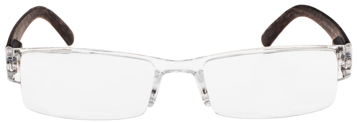 Proffi Home Очки корригирующие (для чтения) G5 304 Fabia Monti +0.75, цвет: прозрачный, коричневыйPH7041_прозрачный/деревоКорригирующие очки, это очки которые направлены непосредственно на коррекцию зрения. Готовые очки для чтения с минусовыми и плюсовыми диоптриями (от -2,5 до + 4,00), не требующие рецепта врача. За счет технологически упрощенной конструкции и отсутствию этапа изготовления линз по индивидуальным параметрам - экономичный готовый вариант для людей, пользующихся очками нечасто, в основном, для чтения.