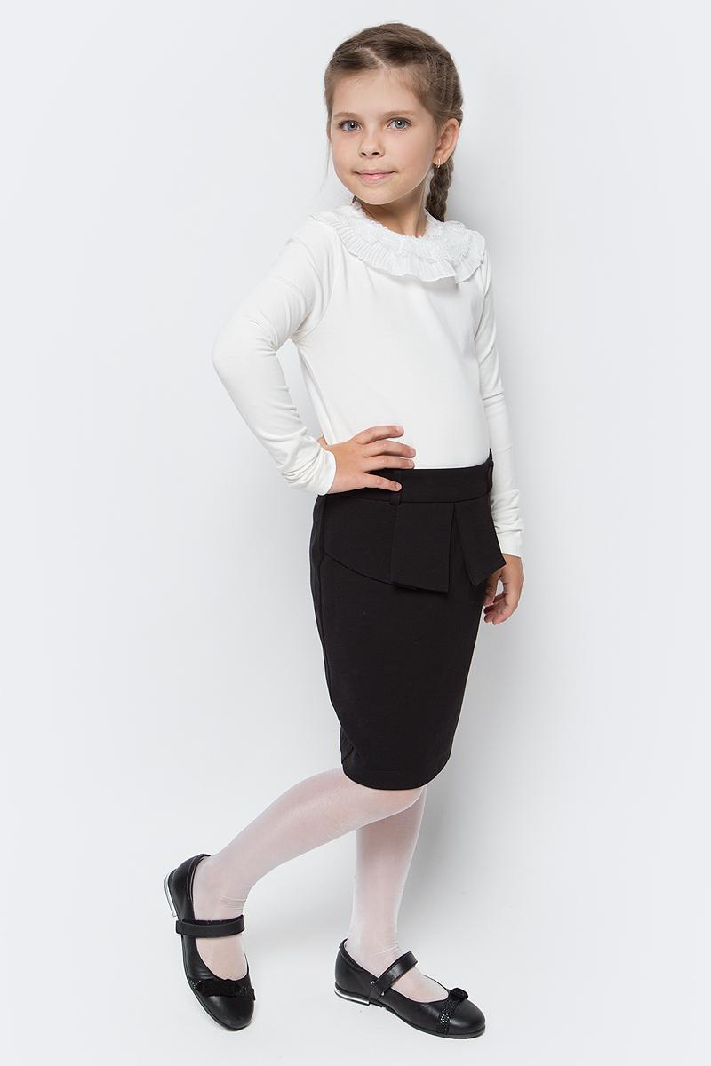 Блузка для девочки Free Age, цвет: молочный. ZG 28075-V2. Размер 122, 6 лет