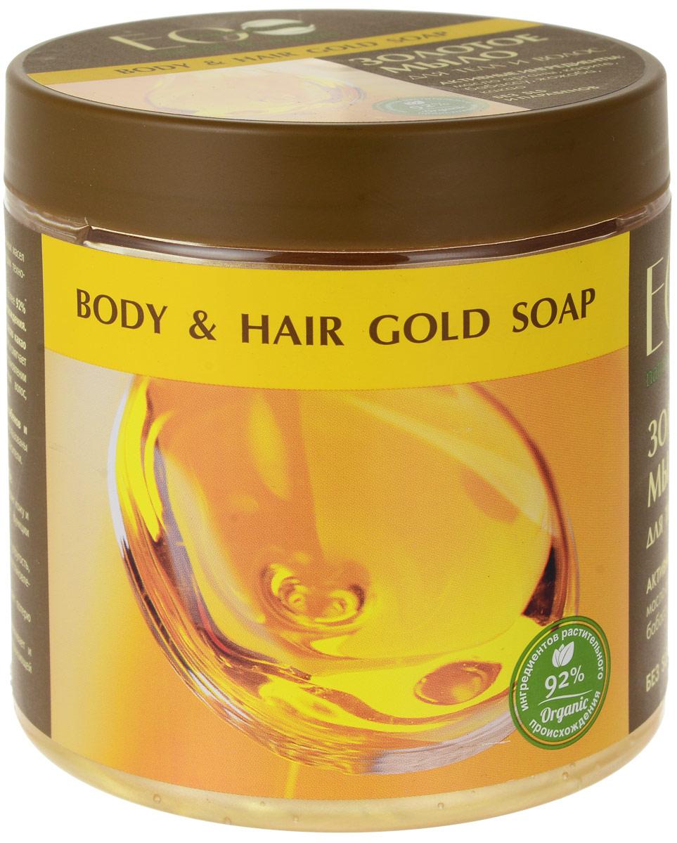 EO laboratorie Мыло для тела и волос Золотое 450 мл4627089430762Мягко очищает кожу и волосы. Смягчает и питает и восстанавливает, активизирует жизненные функции клеток. Способствует омоложению кожи и восстановлению волос. Активные ингредиенты: масло арганы, карите, бабассу, какао, жожоба