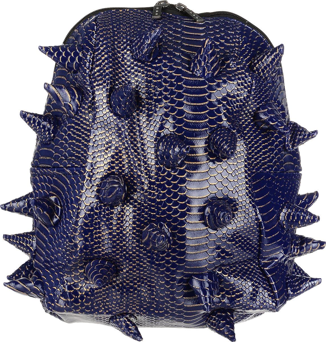 Рюкзак городской MadPax Gator Half. LUXE, цвет: синий, золотой, 16 л