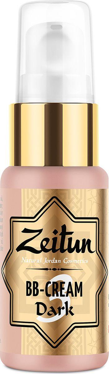 """Натуральный BB-крем №3 темный, 30 млZ2603Подчеркните всю роскошь натурального цвета поцелованной солнцем кожи с эксклюзивной ухаживающей формулой, идеальной """"подстраиваемостью"""" и невесомой текстурой натурального BB-крема!Многофункциональная основа под макияж BB-крем Зейтун №3 имеет подходит для темной от природы или загорелой кожи, идеально подстраивается и выравнивает ее естественный тон, обладает высокой кроющей способностью, скрывает покраснения, светлые и пигментные пятна.ВВ-крем некомедогенен и не содержит талька. Благодаря натуральным маслам оливы, ши, виноградной косточки, экстракту куркумы и эфирному масу нероли, средство действует наравне с увлажняющим кремом, регулирует себовыделение, улучшает структурные и внешние качества кожи.Подробнее:Чтобы средство, улучшающее тон кожи, имело полноценный ухаживающий эффект, в него добавляются настоящие экстракты, питательные и эфирные масла:Оксид железа – натуральный пигмент, который позволяет добиться необходимого оттенка пудры, в данном случае – темного/загорелого.Экстракт куркумы омолаживает кожу и возвращает ей живой, сочный цвет, эффективно борется с пигментными пятнами, регулирует себовыделение.Эфирное масло нероли оказывает антиокислительное действие, регулирует себовыделение, омолаживает, увлажняет и придает лицу свежий здоровый вид.Гидролат мяты богат флавоноидами, тонизирует и восстанавливает, оказывает, мягкое антисептическое, противовоспалительное и антиоксидантное действие, а также обеспечивает быстрое впитывание крема и предотвращает его скапливание в складках кожи.Комплекс растительных масел (оливковое, ши, виноградной косточки, зародышей пшеницы и др.) нежно ухаживает за кожей в течение дня, защищает клетки от обезвоживания, обеспечивает максимально комфортное ощущение при нанесении BB-крема."""