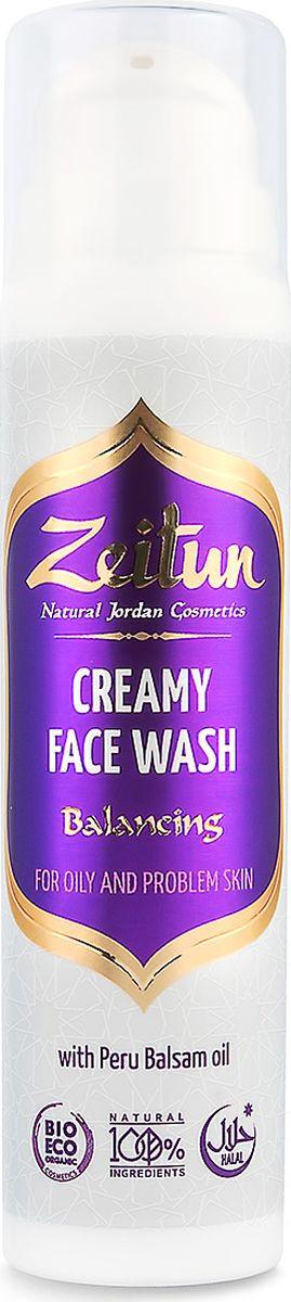 """Балансирующий крем-гель Перуанский бальзам для умывания, для проблемной кожи, 50 млZ3003Чистое, свежее, бархатистое лицо – это цель, к которой стоит стремиться. Мягкий, натуральный крем-гель для умывания Зейтун """"Перуанский бальзам"""" поможет вам естественным образом избавиться от видимых недостатков и обрести великолепную, словно с картинки, здоровую и безупречную кожу.Ценная бальзамическая смола """"перуанский бальзам"""" и эфирного масло чайного дерева великолепно справляются с угрями, черными точками и излишней сальностью.Гель создан по традиционной алеппской технологии, на основе неполностью омыленных масел оливы и лавра: благодаря сохранению целебных свойств масел, средство деликатно регулирует себовыделение, очищает и сужает поры, заметно выравнивая качество вашей кожи.Большое заблуждение, что жирной и проблемной коже нужен менее питательный уход. Чтобы стабилизировать выработку кожного сала и устранить угревую сыпь, необходимы натуральные компоненты-антисептики и компоненты, способные глубоко напитать кожу витаминами и микроэлементами:Перуанский бальзам – ценнейшая смола тропического Бальзамного дерева – обладает прекрасным антибактериальным, противовоспалительным и регенерирующим действием. Целебный компонент устраняет жирный блеск, очищает поры от загрязнений и способствует быстрому заживлению следов воспалений.Эфирное масло чайного дерева – мощный природный антисептик, уничтожает патогенные микроорганизмы в устьях сальных желез, устраняя основную причину появления несовершенств кожи.Лавровое и оливковое масла, обработанные по алеппской технологии неполного омыления, великолепно регулируют деятельность сальных желез, растворяют и выводят глубокие загрязнения из пор, смягчают и питают кожу, снимают раздражения и шелушение, а также комплексно нормализуют все обменные процессы.Гель-баланс Зейтун – это шанс для вашей кожи стать чистой, здоровой и красивой без воздействия агрессивных мылящихся ПАВ и сульфатов. Средство также не содержит синтетических консервантов, отдуш"""
