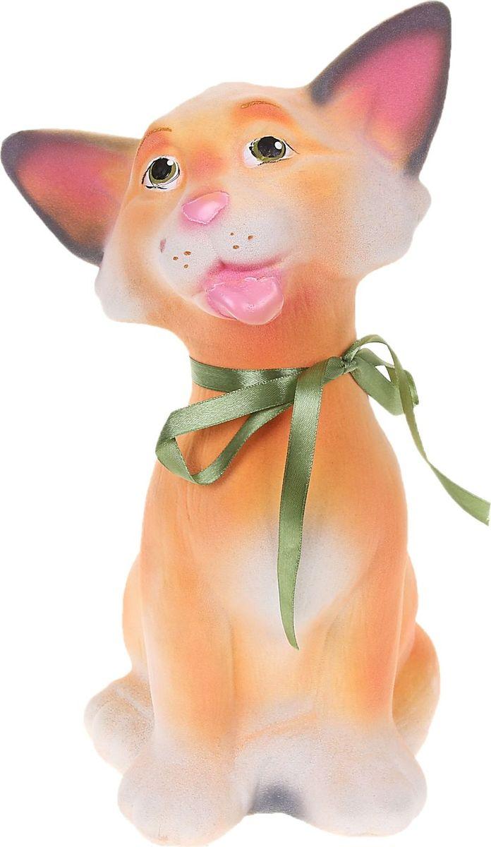 Копилка Керамика ручной работы Кошка Дана, 16 х 12 х 32 см. 10742311074231Женщины любят баловать себя покупками для красоты и здоровья. С помощью такой копилки можно незаметно приблизиться к приобретению желаемого. Образ кошки всегда олицетворял привлекательность и символизировал домашнее спокойствие. Поставьте изделие возле предметов роскоши, и оно будет способствовать их преумножению.Обращаем ваше внимание, что копилка является одноразовой.