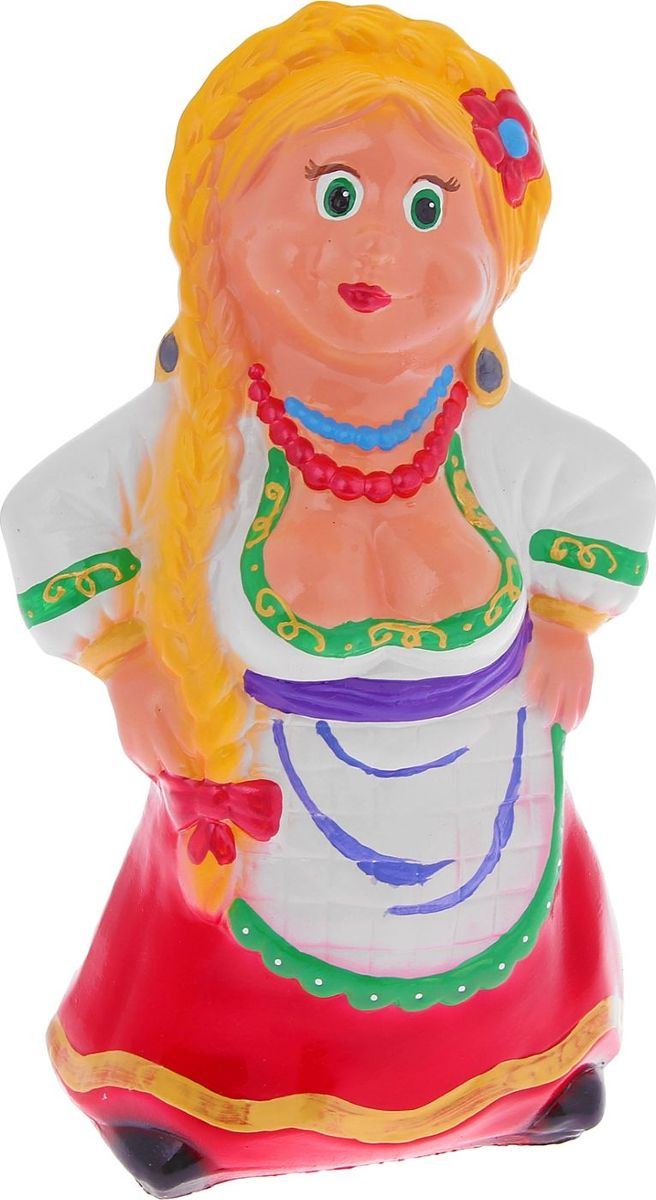 Копилка Керамика ручной работы Красотка, 12 х 15 х 28 см748733Копилка Красотка — отличный подарок на профессиональный праздник или день рождения. Забавный небольшой сувенир вызовет искреннюю улыбку у ваших коллег, друзей и родных.Обращаем ваше внимание, что копилка является одноразовой.