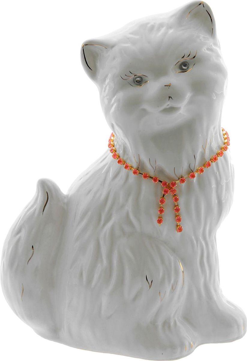 Копилка Керамика ручной работы Кошка Сима, 13 х 19 х 27 см1148357Женщины любят баловать себя покупками для красоты и здоровья. С помощью такой копилки можно незаметно приблизиться к приобретению желаемого. Образ кошки всегда олицетворял привлекательность и символизировал домашнее спокойствие. Поставьте изделие возле предметов роскоши, и оно будет способствовать их преумножению.Обращаем ваше внимание, что копилка является одноразовой.