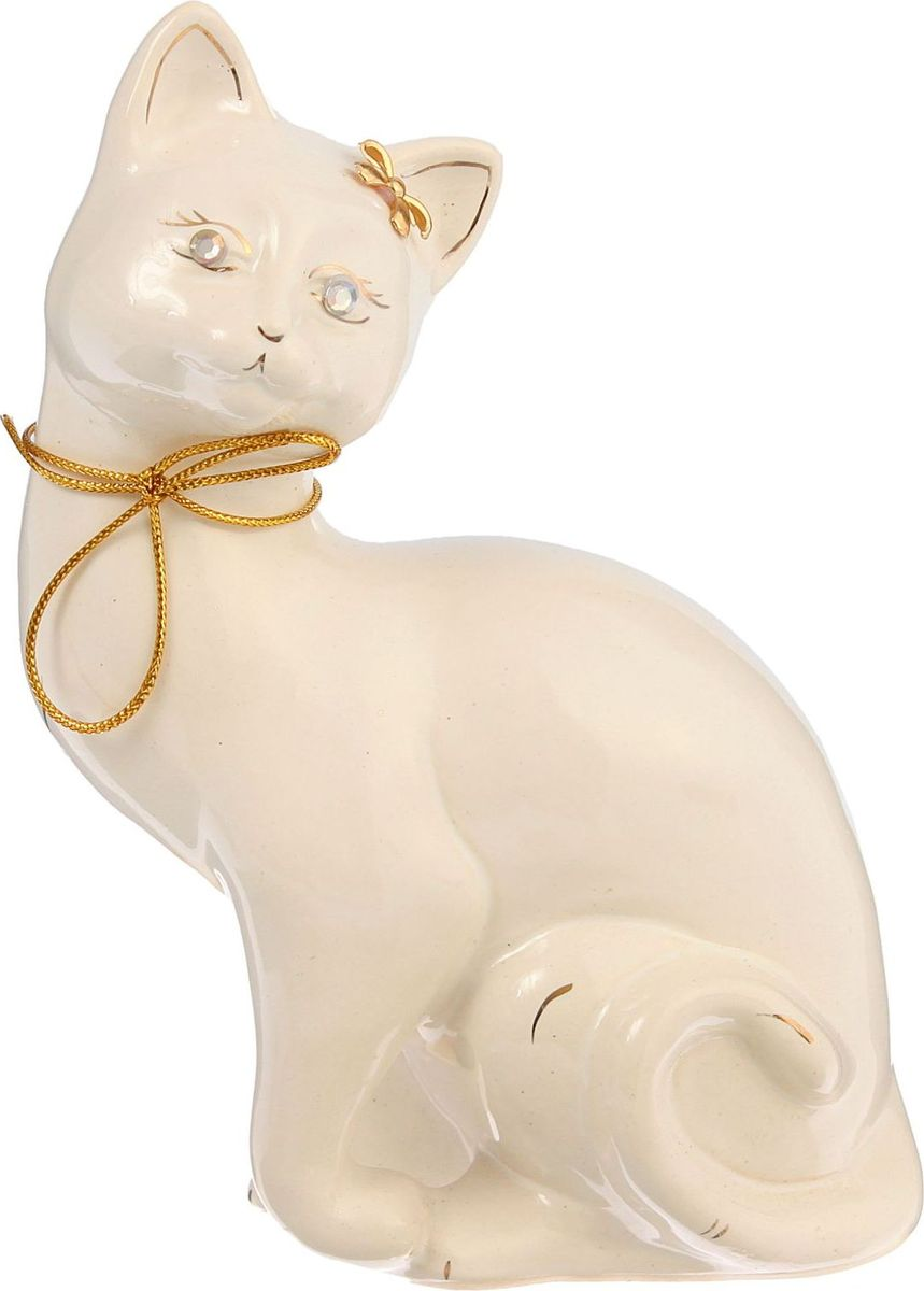 Копилка Керамика ручной работы Кошка Шарлотта, 22 х 8 х 14 см1242314Женщины любят баловать себя покупками для красоты и здоровья. С помощью такой копилки можно незаметно приблизиться к приобретению желаемого. Образ кошки всегда олицетворял привлекательность и символизировал домашнее спокойствие. Поставьте изделие возле предметов роскоши, и оно будет способствовать их преумножению.Обращаем ваше внимание, что копилка является одноразовой.