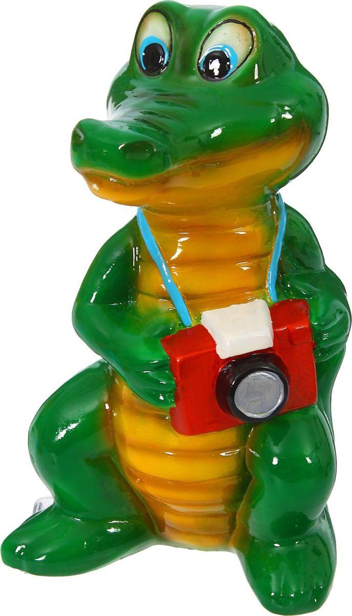 Копилка Керамика ручной работы Крокодил, 14 х 17 х 30 см1314905Оригинальная копилка, выполненная в виде любимого животного, станет необычным украшением интерьера или полезным подарком для любимого человека. С её помощью вы с лёгкостью избавите карманы от мелочи и незаметно для себя приумножите сбережения.Обращаем ваше внимание, что копилка является одноразовой.