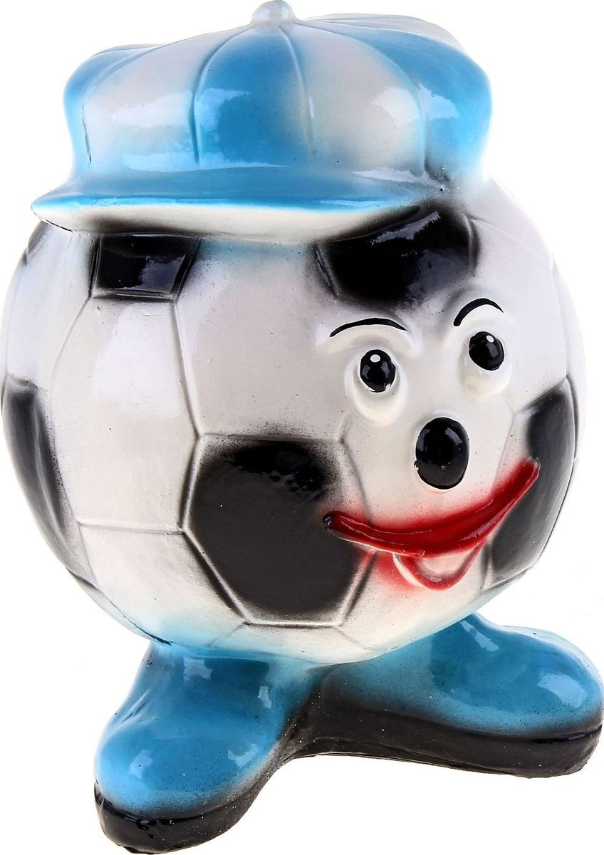 Копилка Футбольный мяч, 18 х 18 х 20 см168121Копилка — универсальный вариант подарка любому человеку, ведь каждый из нас мечтает о какой-то дорогостоящей вещи и откладывает или собирается откладывать деньги на её приобретение. Вместительная копилка станет прекрасным хранителем сбережений и украшением интерьера. Она выглядит так ярко и эффектно, что проходя мимо, обязательно захочется забросить пару монет.