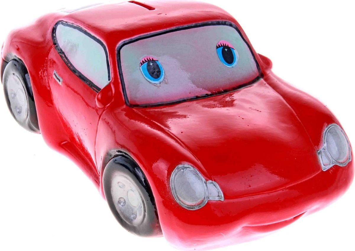 Копилка Керамика ручной работы Мультяшная машинка, цвет: красный, 24 х 10 х 12 см193348Откладываете деньги на новую машину?Копилка в виде автомобиля поможет с лёгкостью приумножить денежные средства, а её вид будет радовать своего обладателя и мотивировать его на покупку.Обращаем ваше внимание, что копилка является одноразовой.