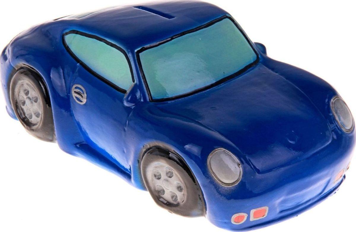 Копилка Керамика ручной работы Гоночная машина, цвет: синий, 27 х 13 х 9 см197166Откладываете деньги на новую машину?Копилка в виде автомобиля поможет с лёгкостью приумножить денежные средства, а её вид будет радовать своего обладателя и мотивировать его на покупку.Обращаем ваше внимание, что копилка является одноразовой.