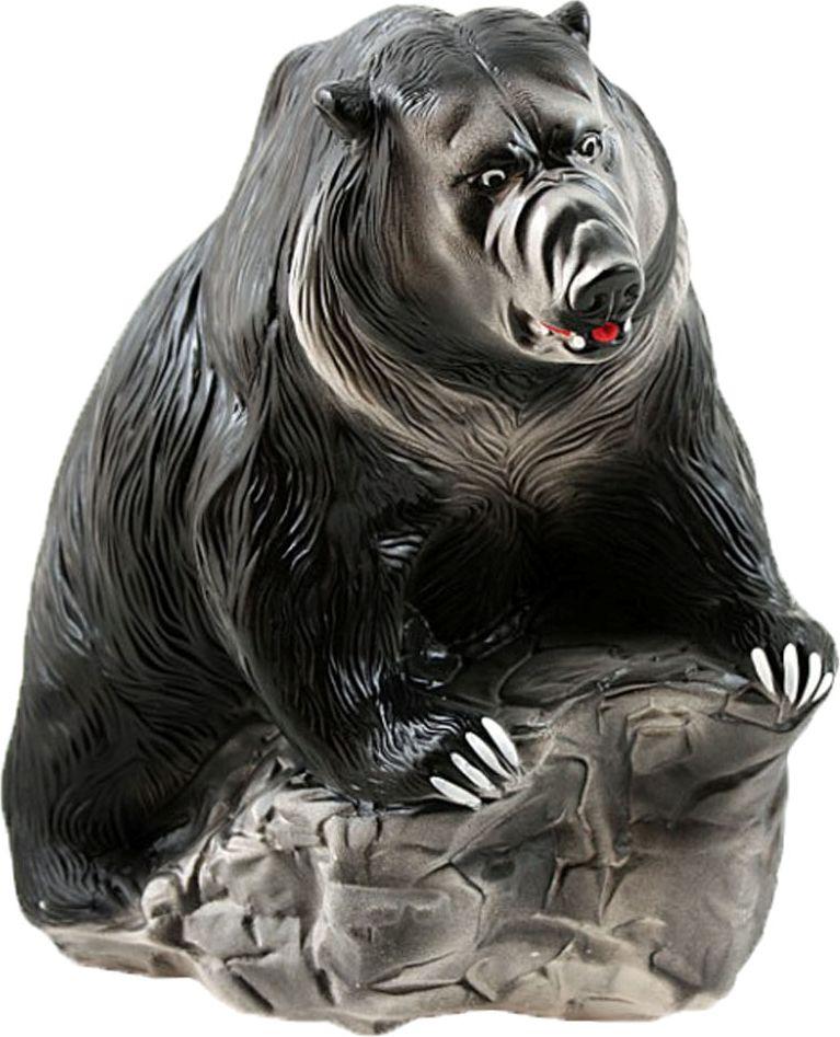 Копилка Медведь - хозяин тайги, цвет: черный, 23 х 10 х 27 см284988Раньше мелочь приходилось хранить в стеклянных банках где-нибудь в серванте или шкафу, а то и вовсе пряча своё добро под подушку. Банки были неудобны и непрактичны, и недолговечны, да и всё их содержимое было отлично видно.Прелесть современных копилок не только в том, что они отлично украшают интерьер, но и скрывают количество накопленного капитала. Ведь всегда приятно поставить себе срок, а когда он наконец-то придет - открыть копилку и порадоваться, пересчитав содержимое.Обращаем ваше внимание, что копилка является одноразовой.