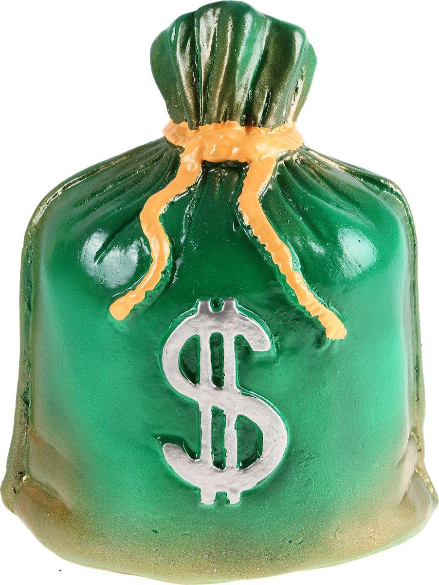 Копилка Мешок: доллар, цвет: зеленый, 14 х 18 х 25 см692398Копилка — универсальный вариант подарка любому человеку, ведь каждый из нас мечтает о какой-то дорогостоящей вещи и откладывает или собирается откладывать деньги на её приобретение. Вместительная копилка станет прекрасным хранителем сбережений и украшением интерьера. Она выглядит так ярко и эффектно, что проходя мимо, обязательно захочется забросить пару монет.Обращаем ваше внимание, что копилка является одноразовой.